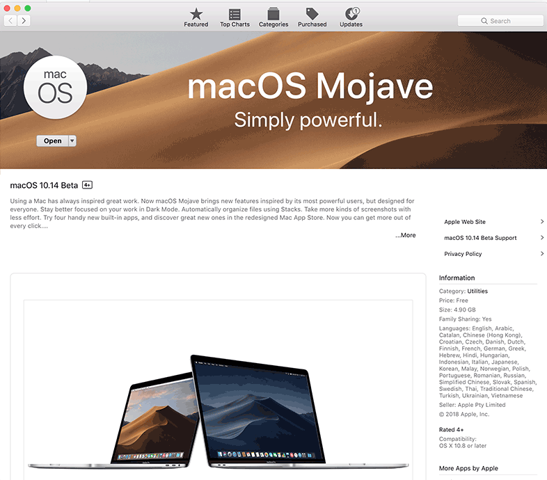 Now Mojave will appear in the app store – Nicholas Sherlock